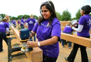 Kanchan Relwani and other Vertex Pharmaceuticals volunteers helped on the project.
